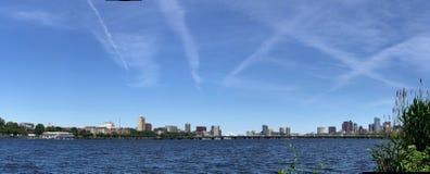 Panoramic view downtown Boston, Massachusetts Royalty Free Stock Photo