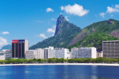 Botafogo and Corcovado in Rio de Janeiro Royalty Free Stock Images