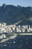View of Botafogo district and Corcovado hill, Rio de Janeiro, Br Stock Photo