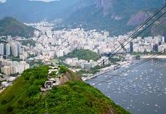 View of Botafogo and Guanabara in Rio de Janeiro Stock Photos