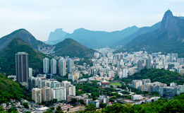 View of Botafogo in Rio de Janeiro. View of Botafogo from Sugar Loaf in Rio de Janeiro stock images