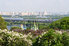 View from the botanical garden in Kyiv Royalty Free Stock Photography