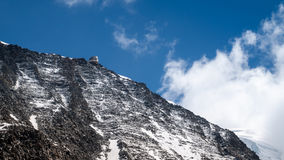 View from the bottom of the route to Refuge du Goûter, Royalty Free Stock Images