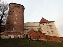 City of Krakow. Poland The landscape of ancient streets, Catholic cathedrals and medieval fortresses. stock photo