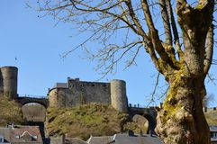 View on the Bouillon in Belgium. View on the Bouillon castle near Semois river in Belgium Royalty Free Stock Photography