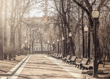 View of the boulevard. Royalty Free Stock Image