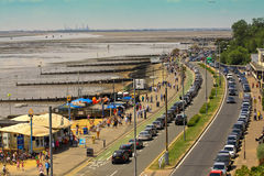 A view from a boulevered by the seaside Royalty Free Stock Images