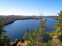 View of Boundary Waters Lakes. View of lake in the Boundary Waters Canoe Area from Caribou Rock royalty free stock image