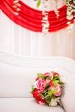 Bouquet of flower on sofa Stock Photos