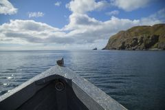 View of bow of a boat in the sea Stock Photography