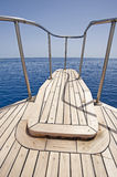 View from the bow of a sailing yacht Royalty Free Stock Image