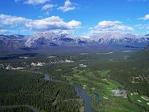 View of bow valley Stock Photo