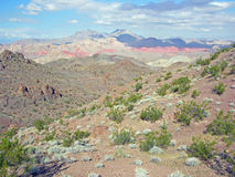 View of Bowl of Fire from the Hamblin Peak area near Lake Mead, Nevada. Royalty Free Stock Images