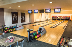 View of the bowling alley Stock Images