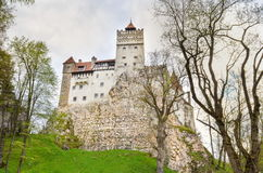 View at Bran Castle, Romania stock images
