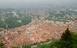 View of Brasov city from Tampa Stock Photography