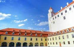 View of Bratislava Castle on blue sky sunny day, Slovakia Stock Photo