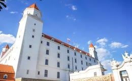 View of Bratislava Castle on blue sky sunny day, Slovakia Stock Image