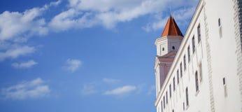 View of Bratislava Castle on blue sky sunny day, Slovakia Royalty Free Stock Photos