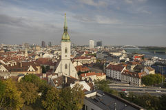 View from Bratislava castle Stock Photo