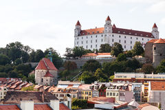 View of Bratislava castle from old city Stock Photo