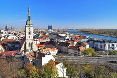 View of Bratislava with Cathedral of St. Martin Royalty Free Stock Image