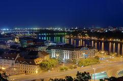 View of Bratislava at night Royalty Free Stock Photos