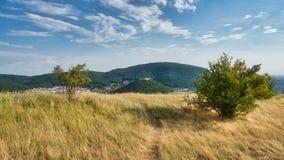 View from Braunsberg mountain in Hainburg, Austria stock image