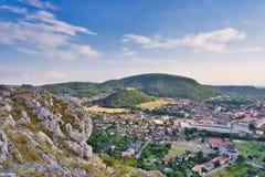 View from Braunsberg mountain in Hainburg, Austria royalty free stock photo