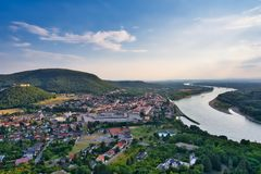 View from Braunsberg mountain in Hainburg, Austria royalty free stock photos