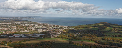 View on Bray and Bray Head from Little Sugar Loaf Royalty Free Stock Photos