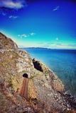Bray Head cliffs in Ireland stock photos