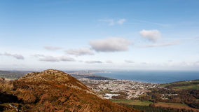 View on Bray from Little Sugarloaf Royalty Free Stock Photography