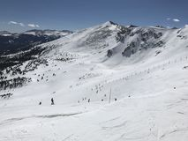 View of Breckenridge Ski Slopes from the top royalty free stock images