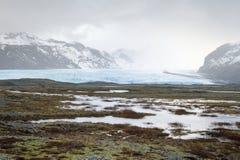 View on Breiðamerkurjökull. Royalty Free Stock Image