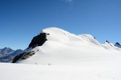 View of the Breithorn summit, Zermatt, Switzerland. View  of the Breithorn summit, Zermatt, Switzerland Royalty Free Stock Images