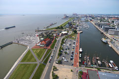 View Bremerhaven harbour Royalty Free Stock Photography