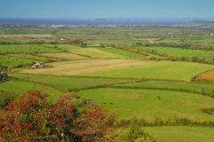 View from Brent Knoll Somerset towards the coast Royalty Free Stock Images