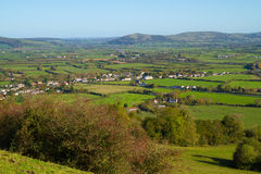 View from Brent Knoll towards Crook Peak Somerset Royalty Free Stock Photo