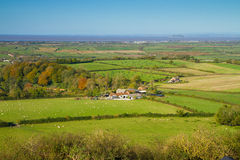 View from Brent Knoll towards Flat Holm Royalty Free Stock Photos