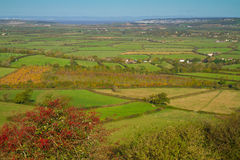View from Brent Knoll towards Weston-super-Mare Royalty Free Stock Image