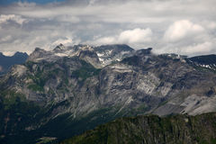 View from Brevent in the french Alps Royalty Free Stock Photos