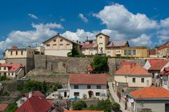 View of the brewery in Znojmo. stock photos