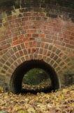 View through the brick tunnel Stock Photos