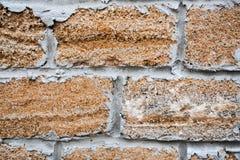 View at brick wall stock photography