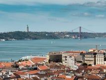 View of the bridge April 25, Lisbon royalty free stock photos
