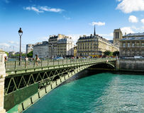 The view of the Bridge of Arcole. Paris, Franse Royalty Free Stock Image