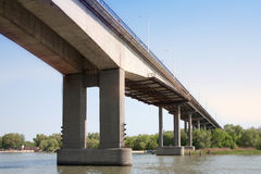 View of bridge from below Royalty Free Stock Photos