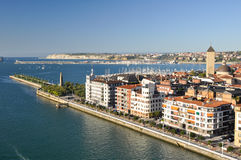 View from bridge of Bizkaia, Portugalete Stock Images