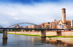 View of Bridge called Pont de l'Estat over Ebro Royalty Free Stock Photography